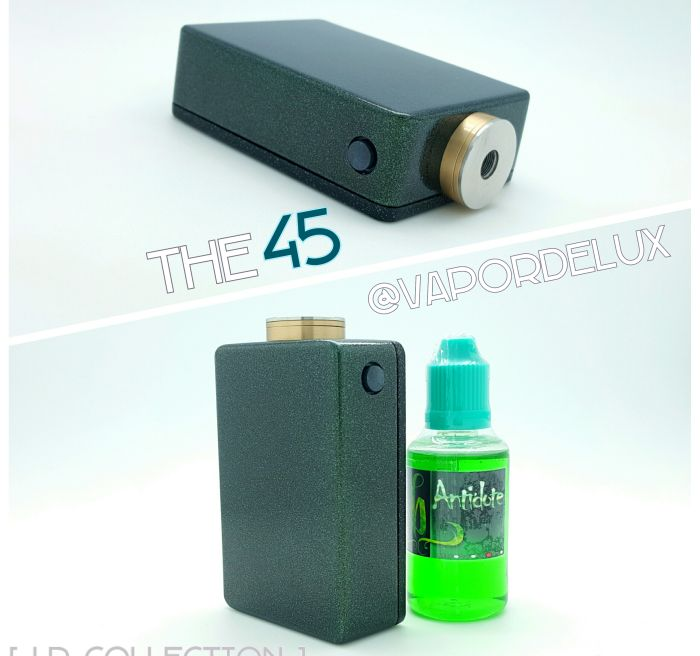 VaporDelux's 45, Emerald Black Rainbow on Brass